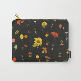 signs of fall with black background Carry-All Pouch