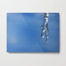 Melting Ice Metal Print