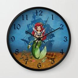 Siren's Shipwreck Wall Clock