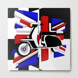 Scooter UK Metal Print