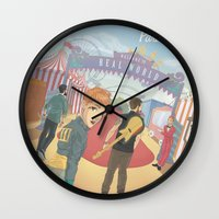 paramore Wall Clocks featuring Paramore - Welcome to Real World by Zinenkoij