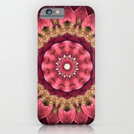 Maroon Fractal iPhone Case