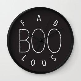 Fab-BOO-los (black background) Wall Clock