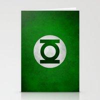 green lantern Stationery Cards featuring Green Lantern by whosyourdeddy