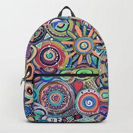 Seeing Stars Abstract  Painting Backpack
