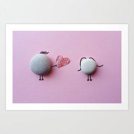 Rock(xy) He(art) Art Print