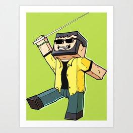 Block Sighted - Minecraft Avatar Art Print