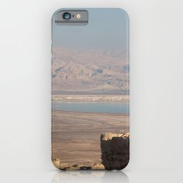 Masada Ruins and Jordan Valley iPhone Case