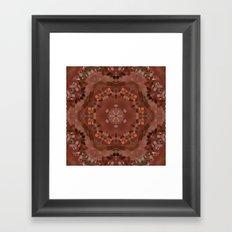 Hardwood Hill Brown Kaleidoscope Framed Art Print