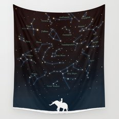 Falling star constellation Wall Tapestry