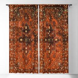 N151 - Orange Oriental Vintage Traditional Moroccan Style Artwork Blackout Curtain