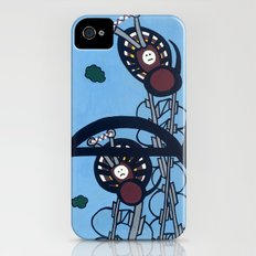 KNITTING SPIDERS on a POWER TRIP Slim Case iPhone (4, 4s)