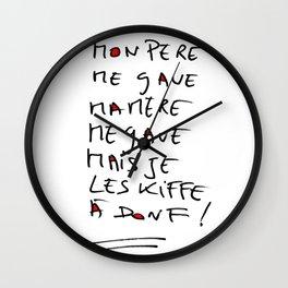 Love and crash Wall Clock