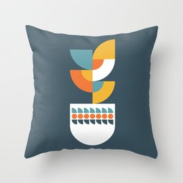 Geometric Plant 02 Throw Pillow