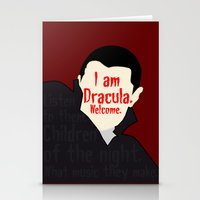 dracula Stationery Cards featuring Dracula by Swell Dame