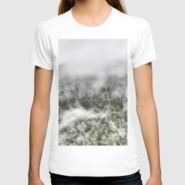 """""""Mountain light III"""". Foggy forest. T-shirt"""