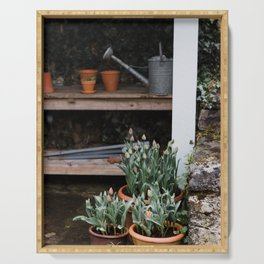Spring Garden Shed Serving Tray