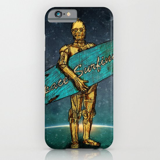 Space Surfer iPhone & iPod Case