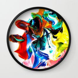 paint on a white background Wall Clock