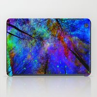 decal iPad Cases featuring Colorful forest by haroulita