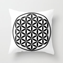 Pure Energy The Flower of Life Throw Pillow