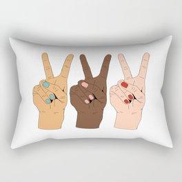 Peace Hands Rectangular Pillow