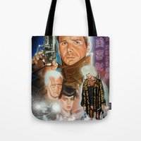 blade runner Tote Bags featuring Blade runner by calibos