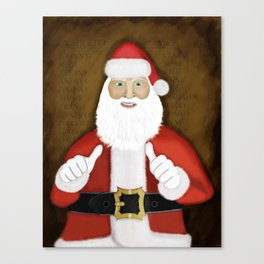 Thumbs (the Santa Claus edition) Canvas Print