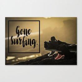 Gone Surfing Canvas Print