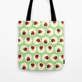 Ladybugs pattern Tote Bag