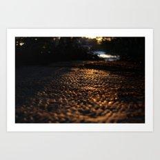 Textured sands  Art Print