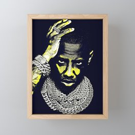 𝐇.𝕋.Ǥ.b.ㄚ. Rap Hip Hop Society6 Fabolous - Rapper - Rap Music Hip Hop NYC Brooklyn Glow Yellow Framed Mini Art Print