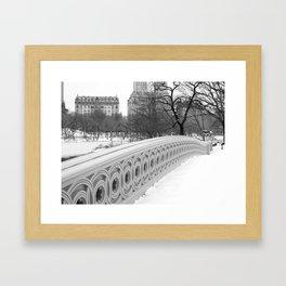 On Bow Bridge, B&W Photography Framed Art Print