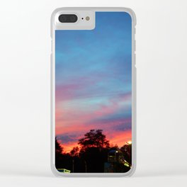 Fire over the Midway Clear iPhone Case