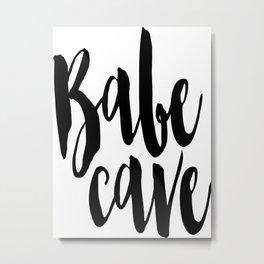 Babe Cave Poster, Nursery Print, Home Decor, Baby Room Decor, Kids Room Metal Print