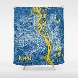 Kiev, Ukraine street map Shower Curtain