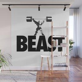 beast - heavy weight lifter bodybuilder Wall Mural