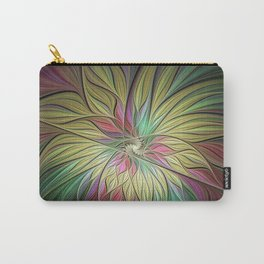 Flourish, Colorful Abstract Fractal Art Carry-All Pouch