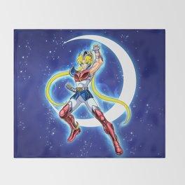 Caballero de la Luna Throw Blanket