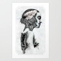 black swan Art Prints featuring Swan by JsR_OtR