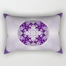 Vinyl Record Illusion in Purple Rectangular Pillow