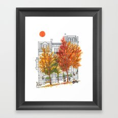 Autumn Cityscape Framed Art Print