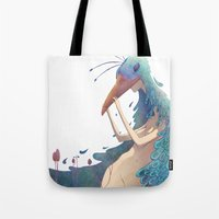 fairy Tote Bags featuring Fairy by Amandine Riera ( Dïne )