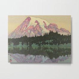 Hiroshi Yoshida Vintage Japanese Woodblock Print Reflection Lake Landscape Metal Print