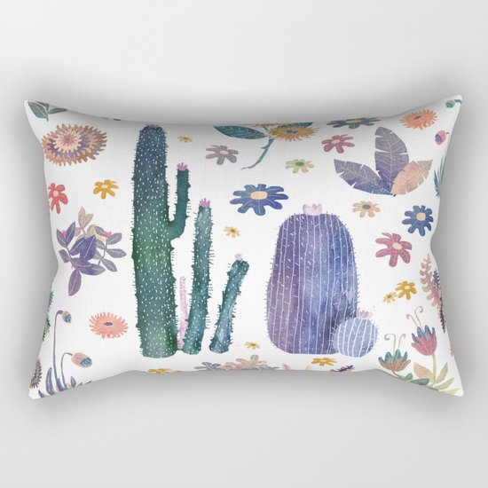 cactus king and Queen of the nature!! Rectangular Pillow
