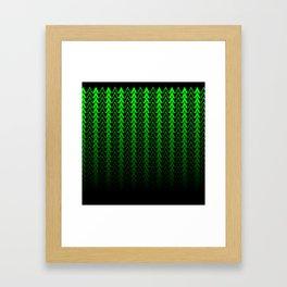 Dark Forest Geometric Framed Art Print