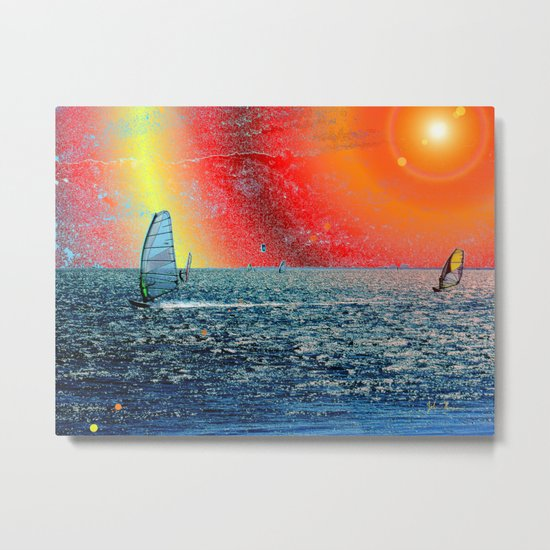 Wind, Surf and Sun Metal Print