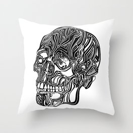 Death Mask No1 Throw Pillow