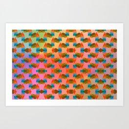 2606 Pattern with hidden hearts ... Art Print