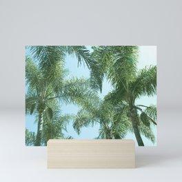 Nature photography tropical vibe vintage palm leaf I Mini Art Print